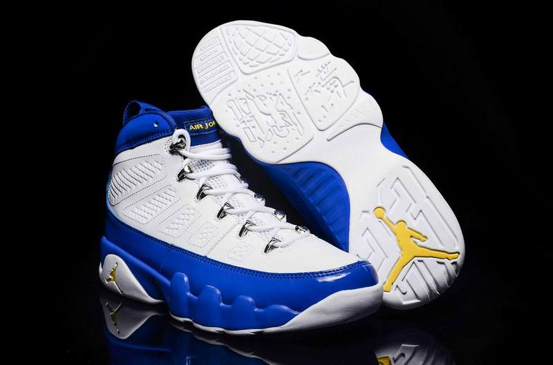 Wholesale Cheap 2016 Air Jordan 9 Kobe Bryant PE White Concord-Tour Yellow - www.wholesaleflyknit.com