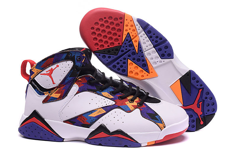 Wholesale Cheap 2016 Girls Air Jordan 7 Nothing But Net White University Red-Black-Bright Concord - www.wholesaleflyknit.com