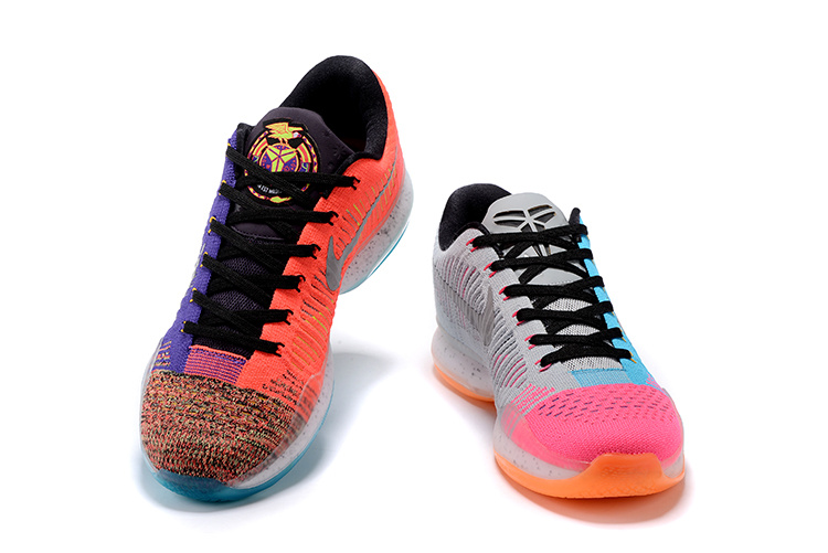 Wholesale Cheap 2016 Nike Kobe 10 Elite Low Multi-Color What The For Sale - www.wholesaleflyknit.com