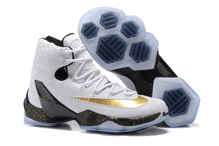 Wholesale Cheap 2016 Nike LeBron 13 Elite Gold White Black Metallic Gold - www.wholesaleflyknit.com