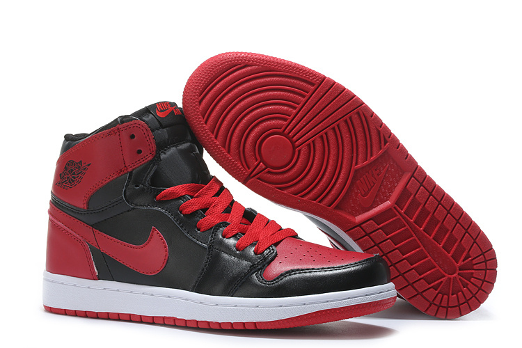 Wholesale Cheap 2017 Air Jordan 1 High Chicago Bulls Black Varsity Red For Sale - www.wholesaleflyknit.com