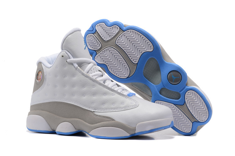 Wholesale Cheap 2017 Air Jordan 13 University Blue White Neutral Grey-University Blue For Sale - www.wholesaleflyknit.com