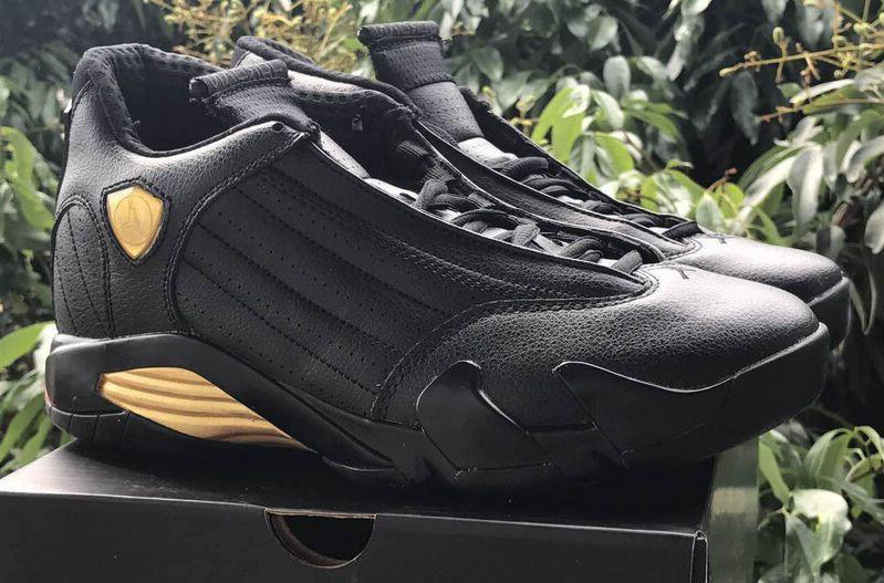 Wholesale Cheap 2017 Air Jordan 14 DMP Black Metallic Gold-Varsity Red For Sale - www.wholesaleflyknit.com