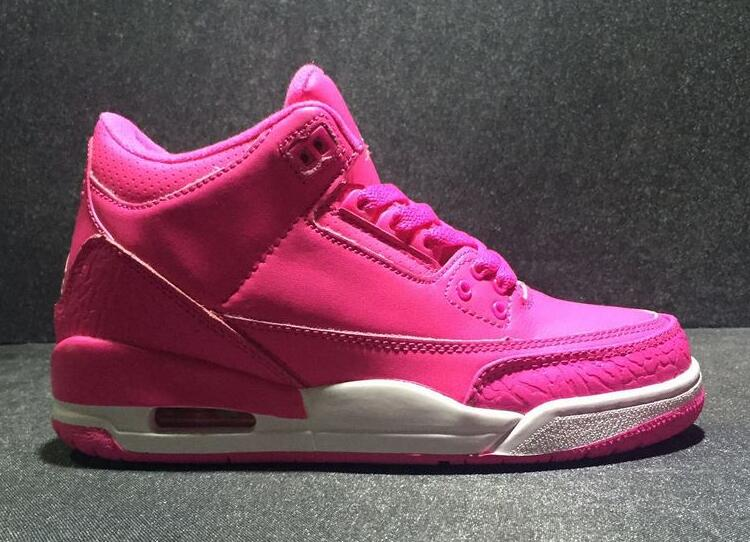 Wholesale Cheap 2017 Air Jordan 3 GS Vivid Pink For Sale - www.wholesaleflyknit.com