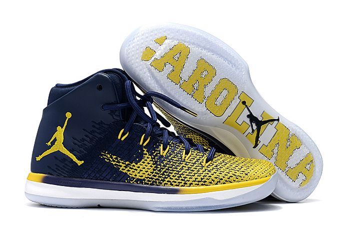 Wholesale Cheap 2017 Air Jordan 31 XXXI Michigan Iconic Blue-Yellow For Cheap - www.wholesaleflyknit.com