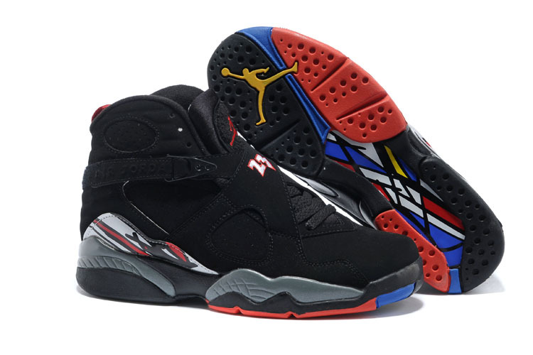 Wholesale Cheap 2017 Air Jordan 8 Retro Playoffs Black True Red-White For Sale - www.wholesaleflyknit.com