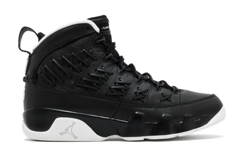Wholesale Cheap 2017 Air Jordan 9 Pinnacle Baseball Black Leather For Sale - www.wholesaleflyknit.com