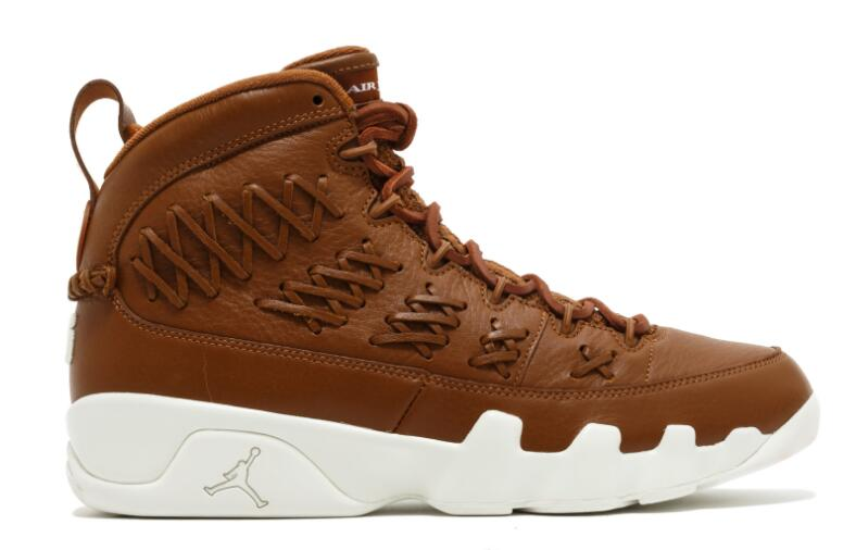 Wholesale Cheap 2017 Air Jordan 9 Pinnacle Baseball Brown Leather For Sale - www.wholesaleflyknit.com