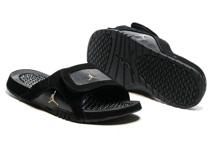 Wholesale Cheap 2017 Air Jordan Hydro 12 Retro Slide Black Metallic Gold Star Black - www.wholesaleflyknit.com