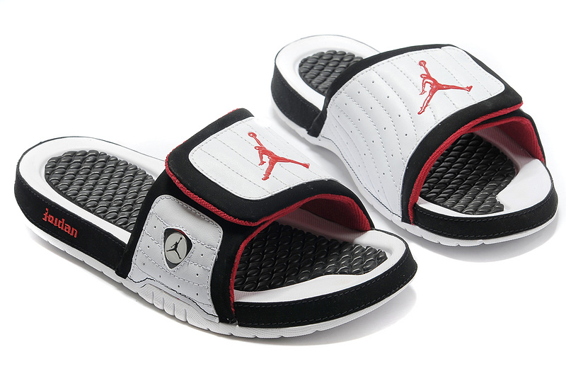 Wholesale Cheap 2017 Air Jordan Hydro 14 Retro Slide White Black Red For Sale - www.wholesaleflyknit.com
