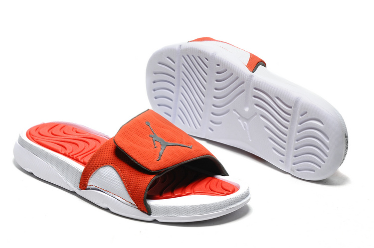 Wholesale Cheap 2017 Air Jordan Hydro 4 Retro Slide White Orange For Sale - www.wholesaleflyknit.com