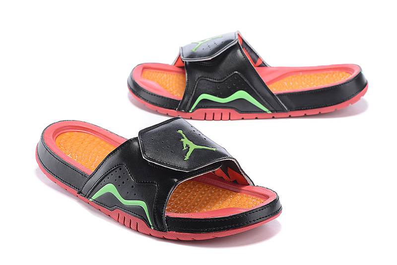 Wholesale Cheap 2017 Air Jordan Hydro 7 Retro Slide Black Pink Orange Green Mens And Girls Shoes - www.wholesaleflyknit.com