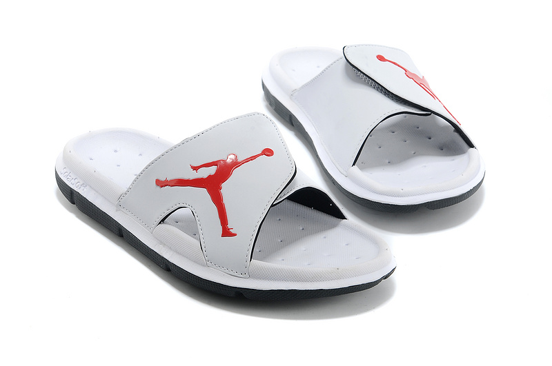 Wholesale Cheap 2017 Air Jordan Hydro Retro Slide White Black Red For Sale - www.wholesaleflyknit.com