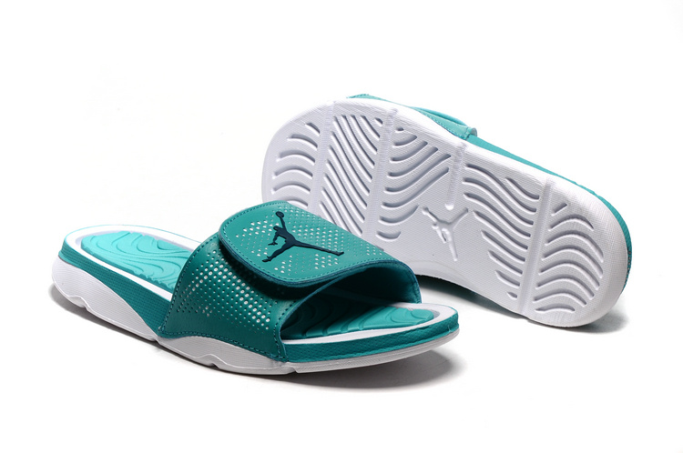 Wholesale Cheap 2017 Air Jordan Hydro V Retro Slide Mint Green White For Sale - www.wholesaleflyknit.com