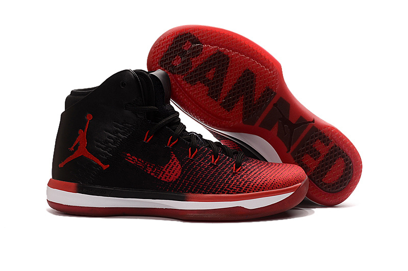 Wholesale Cheap 2017 Air Jordan XXX1 Banned Black University Red-White - www.wholesaleflyknit.com