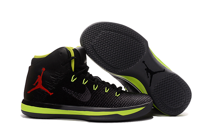 Wholesale Cheap 2017 Air Jordan XXX1 Black Green Red Basketball Shoes - www.wholesaleflyknit.com