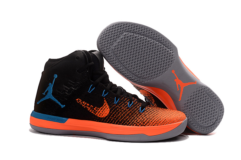 Wholesale Cheap 2017 Air Jordan XXX1 Black Orange Blue Basketball Shoes - www.wholesaleflyknit.com