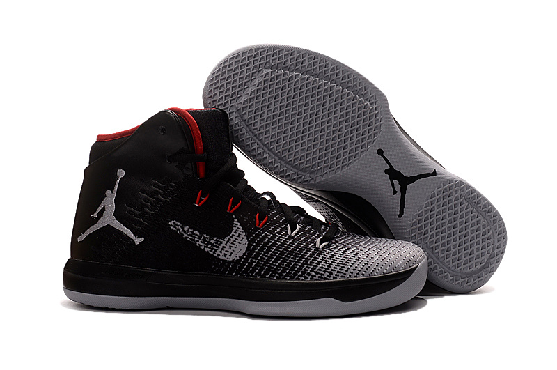 Wholesale Cheap 2017 Air Jordan XXX1 Black Red-Wolf Grey Basketball Shoes - www.wholesaleflyknit.com