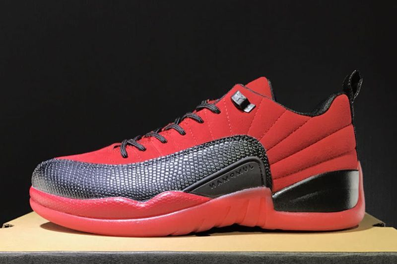 Wholesale Cheap 2017 Air Jordan 12 Retro Low Raging Bull Red Suede-Black For Sale - www.wholesaleflyknit.com