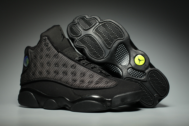 Wholesale Cheap 2017 Air Jordan 13 Black Cat Anthracite-Black Shoes For Sale - www.wholesaleflyknit.com