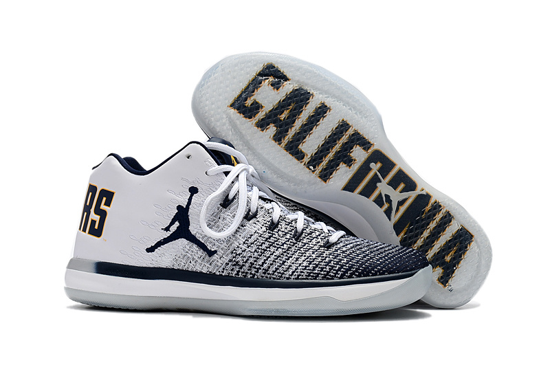 Wholesale Cheap 2017 Air Jordan 31 Low Cal Bears White Amarillo-College Navy For Sale - www.wholesaleflyknit.com