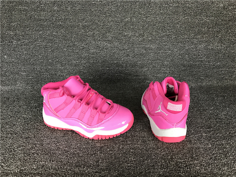 Wholesale Cheap 2017 Kids Air Jordan 11 Pink Everything Sneakers For Sale - www.wholesaleflyknit.com