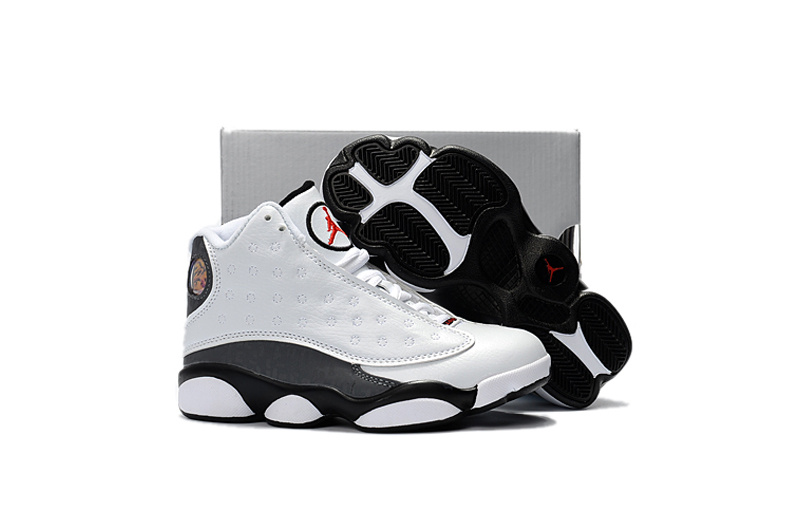 Wholesale Cheap 2017 Kids Air Jordan 13 Love Respect White For Sale - www.wholesaleflyknit.com