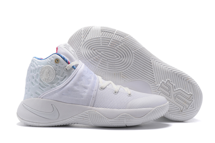 Wholesale Cheap 2017 Nike Kyrie 2 What The All White-Sail Basketball Shoes - www.wholesaleflyknit.com
