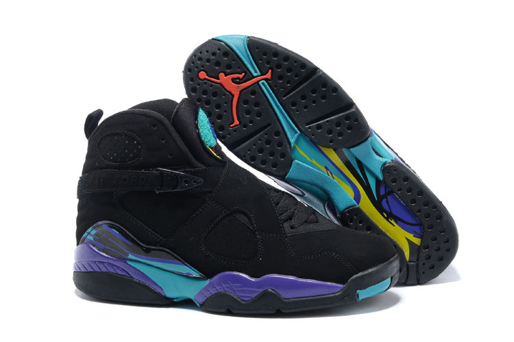 Wholesale Cheap 2017 Girls Air Jordan 8 Retro Black Dark Concord-Anthracite-Aqua Tone For Sale - www.wholesaleflyknit.com