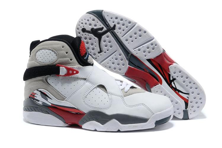 Wholesale Cheap 2017 Girls Air Jordan 8 Retro Bugs Bunny White Black-True Red For Sale - www.wholesaleflyknit.com