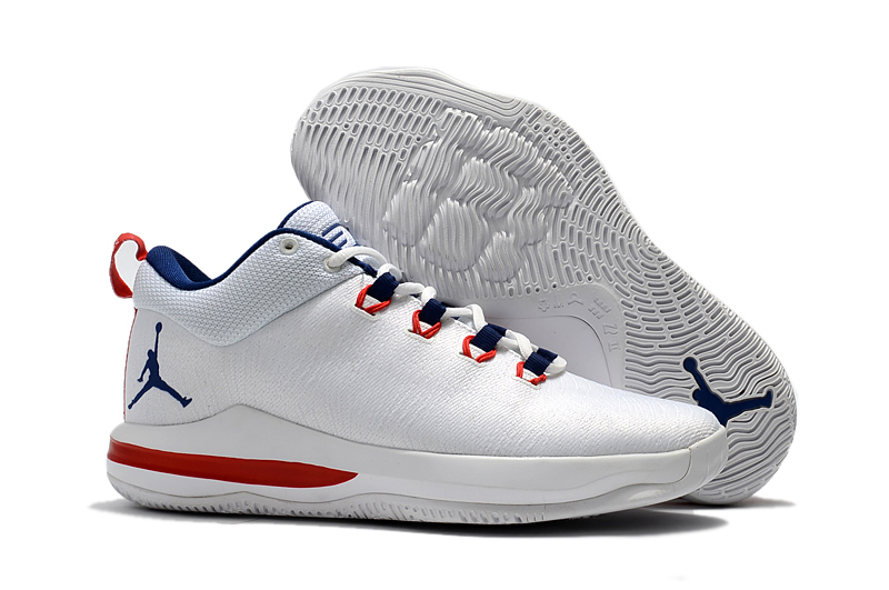 Wholesale Cheap 2017 Jordan CP3.X AE White University Red Midnight Navy For Sale - www.wholesaleflyknit.com