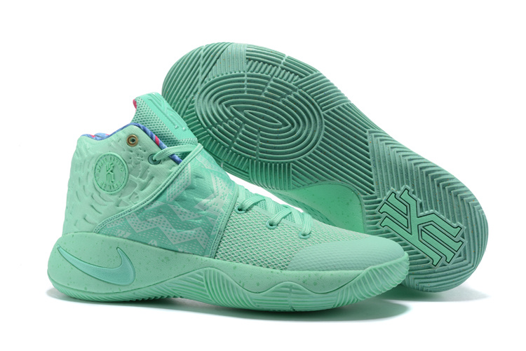 Wholesale Cheap 2017 Newest Nike Kyrie 2 What The Green Glow Shoes For Sale - www.wholesaleflyknit.com