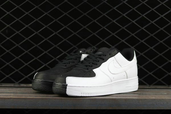 Cheap Wholesale 2017 Nike Air Force 1 Low Split Black White For Sale - www.wholesaleflyknit.com