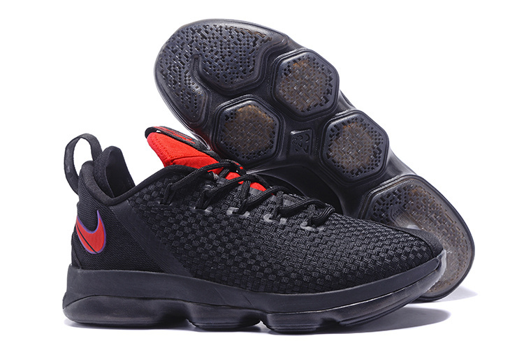 Wholesale Cheap 2017 Nike LeBron 14 Low Flip the Switch Black University Red For Sale - www.wholesaleflyknit.com