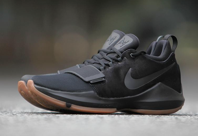 Wholesale Cheap 2017 Nike PG 1 Black Gum Black Anthracite-Light Brown Gum - www.wholesaleflyknit.com