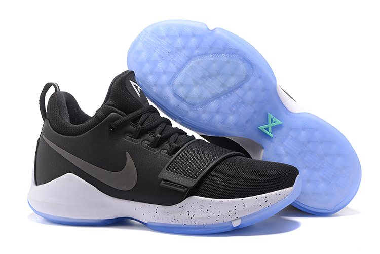 Wholesale Cheap 2017 Nike Zoom PG 1 Black Ice Black White-Hyper Turquoise For Sale - www.wholesaleflyknit.com