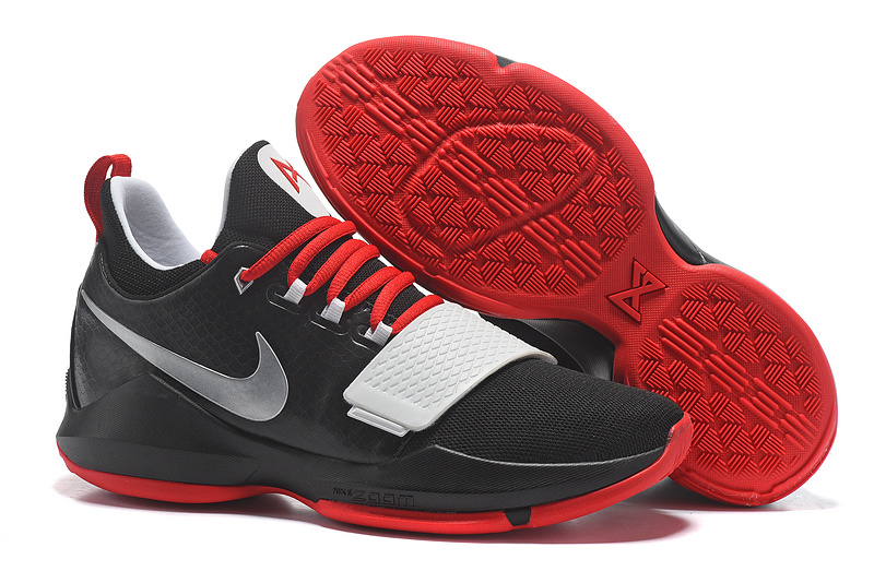 Wholesale Cheap 2017 Nike Zoom PG 1 Black Red White For Sale - www.wholesaleflyknit.com