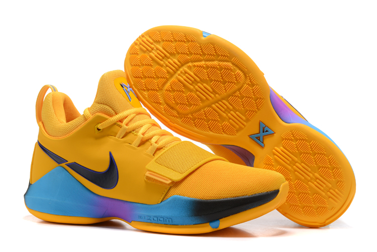 Wholesale Cheap 2017 Nike Zoom PG 1 Flip The Switch Yellow Black Blue Violet For Sale - www.wholesaleflyknit.com