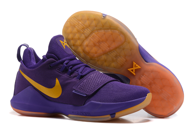 Wholesale Cheap 2017 Nike Zoom PG 1 Lakers Purple Yellow For Sale - www.wholesaleflyknit.com