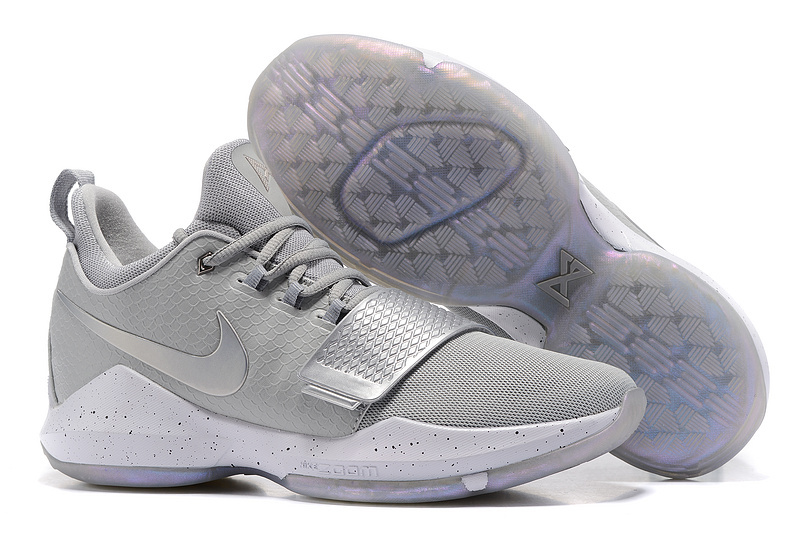 Wholesale Cheap 2017 Nike Zoom PG 1 Silver Grey For Sale - www.wholesaleflyknit.com