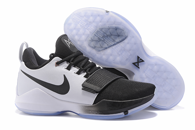 Wholesale Cheap 2017 Nike Zoom PG 1 White Black For Sale - www.wholesaleflyknit.com