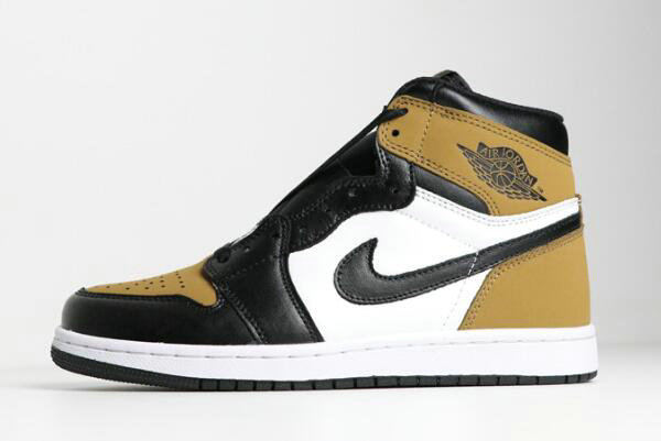 Cheap Wholesale 2018 Air Jordan 1 Retro High OG Rookie of the Year Gold Harvest Black Shoes - www.wholesaleflyknit.com