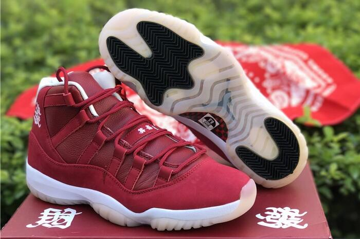 cbfcc79573dc85 Wholesale Cheap 2018 Air Jordan 11 CNY Chinese New Year All-Red and White  Midsole