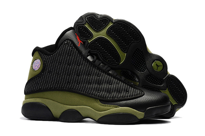Wholesale Cheap 2018 Air Jordan 13 Olive Black True Red-Light Olive For Sale - www.wholesaleflyknit.com