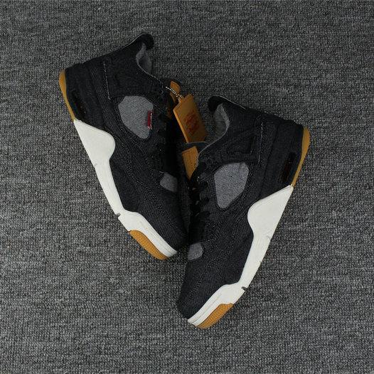 2018 Air Jordan Shoes x Cheap Nike Air Jordan 4 Levis Black - www.wholesaleflyknit.com