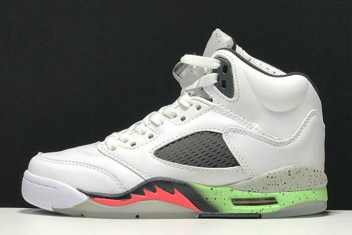 finest selection b3082 894a4 Cheap Wholesale 2018 Buy Air Jordan 5 Retro ProStars WhiteInfrared 23-Light  Poison Green-