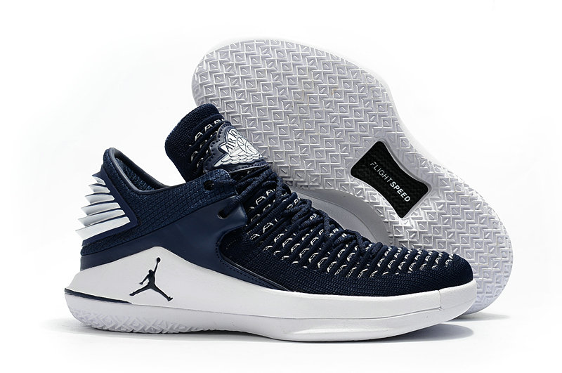 2018 Wholesale Cheap Air Jordan Retro 32 Navy Blue White - www.wholesaleflyknit.com