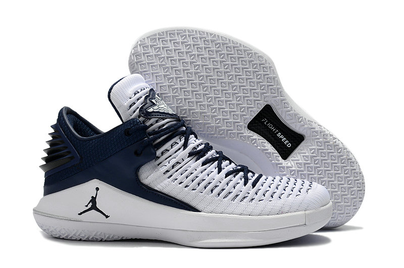 2018 Wholesale Cheap Air Jordan Retro 32 White Navy Blue - www.wholesaleflyknit.com