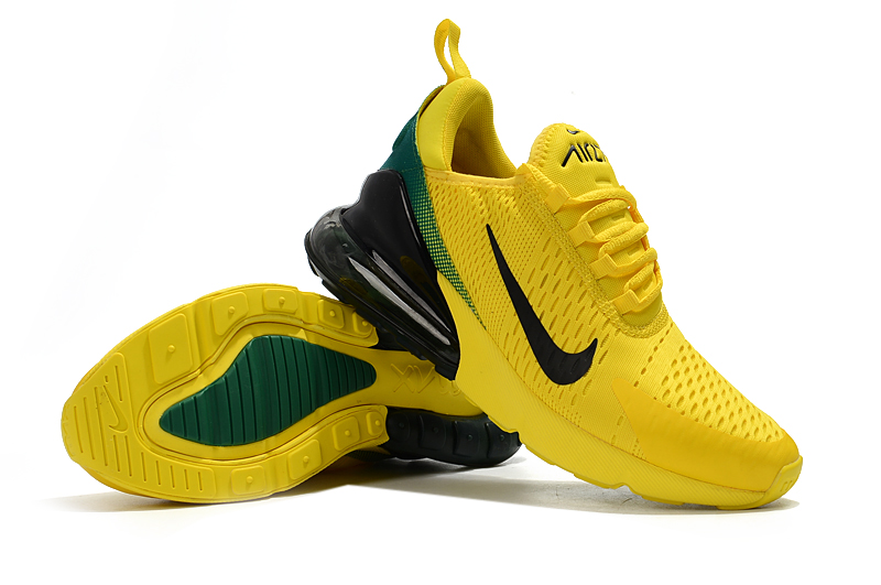 edba59f146bc36 2018 Cheap Nike Air Max 270 World Cup Yellow Green Black Running Shoes -  www.