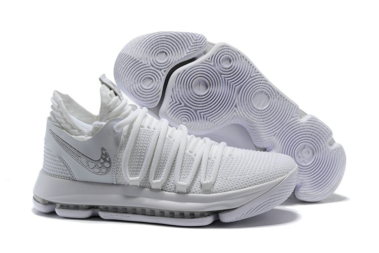 beb703b41004 2018 Cheapest Wholesale Nike Kevin Durant 10 X Triple White -  www.wholesaleflyknit.com
